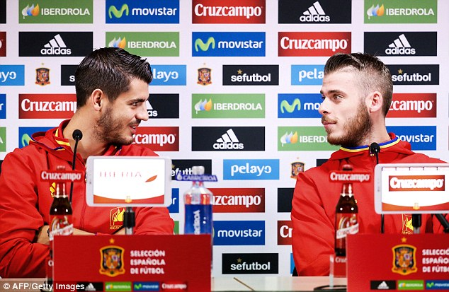David de Gea with Alvaro Morata admitted the Paris attacks left us speechless