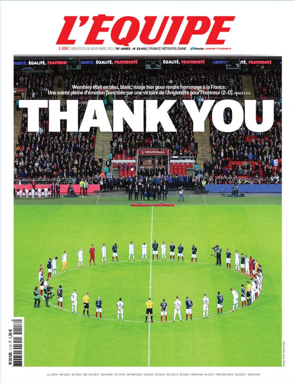 Front page from Lequipe today
