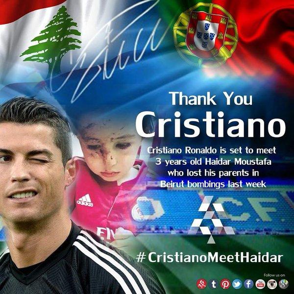 #CristianoMeetHaidar