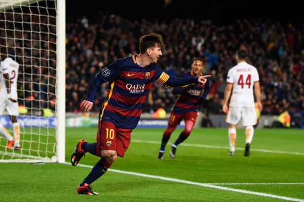 messi stars in barca rout of ASRoma