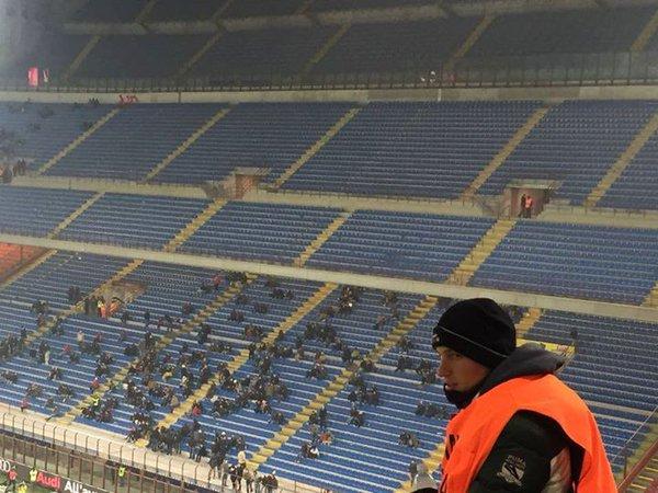 Curva Sud have left #MilanCrotone