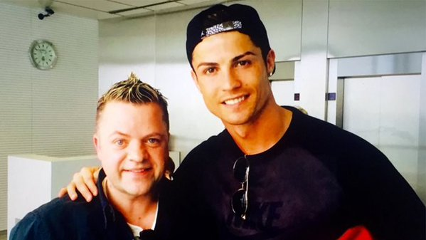 Marks dad Keith Norris with Cristiano is said to have good ties with Raul, Hierro, Salgado, Ramos Marcelo