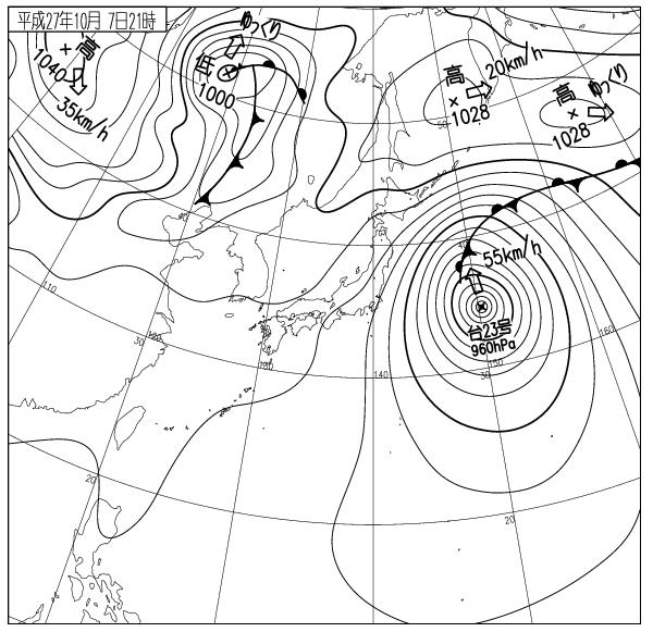 モノクロ天気図