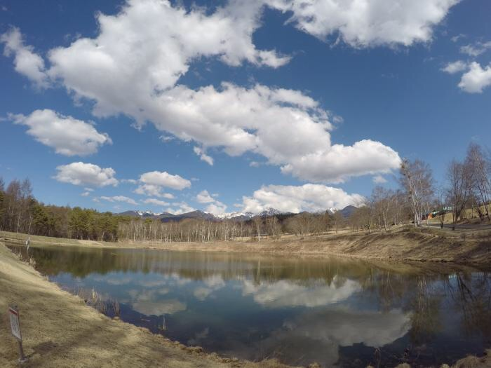 ランニング0326_まるやち湖から見る