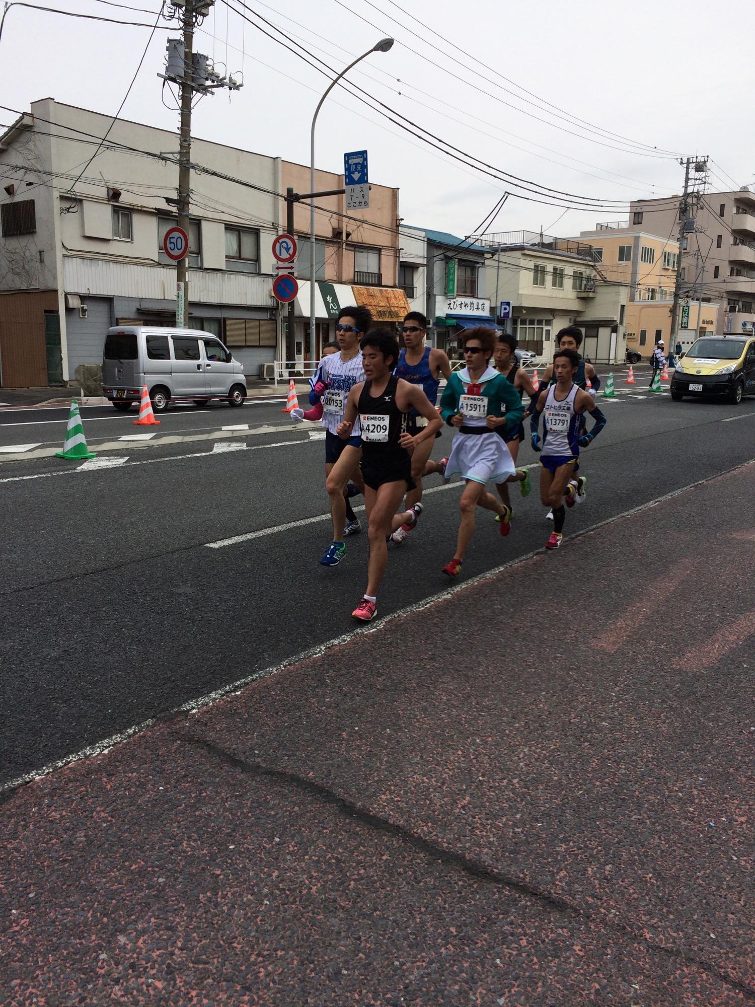 横浜15km先頭集団