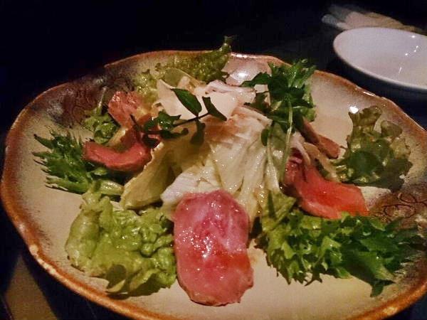見蘭牛のサラダ