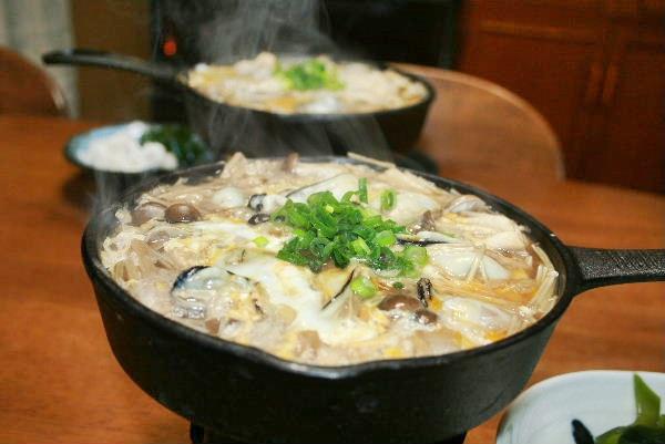 牡蠣の卵とじ