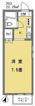 天野マンション203間取図