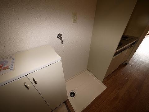 天野マンション203洗濯機置き場
