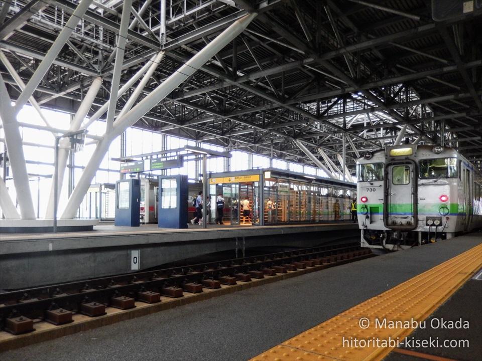 旭川駅のホームの光景3