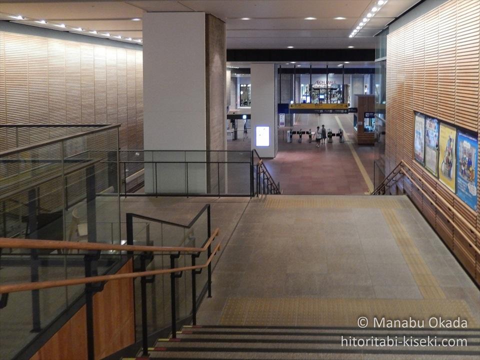 旭川駅の改札への階段