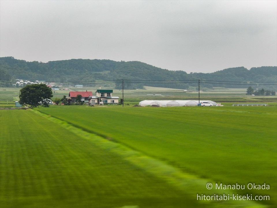 札幌~旭川におけるJR函館本線の車窓風景