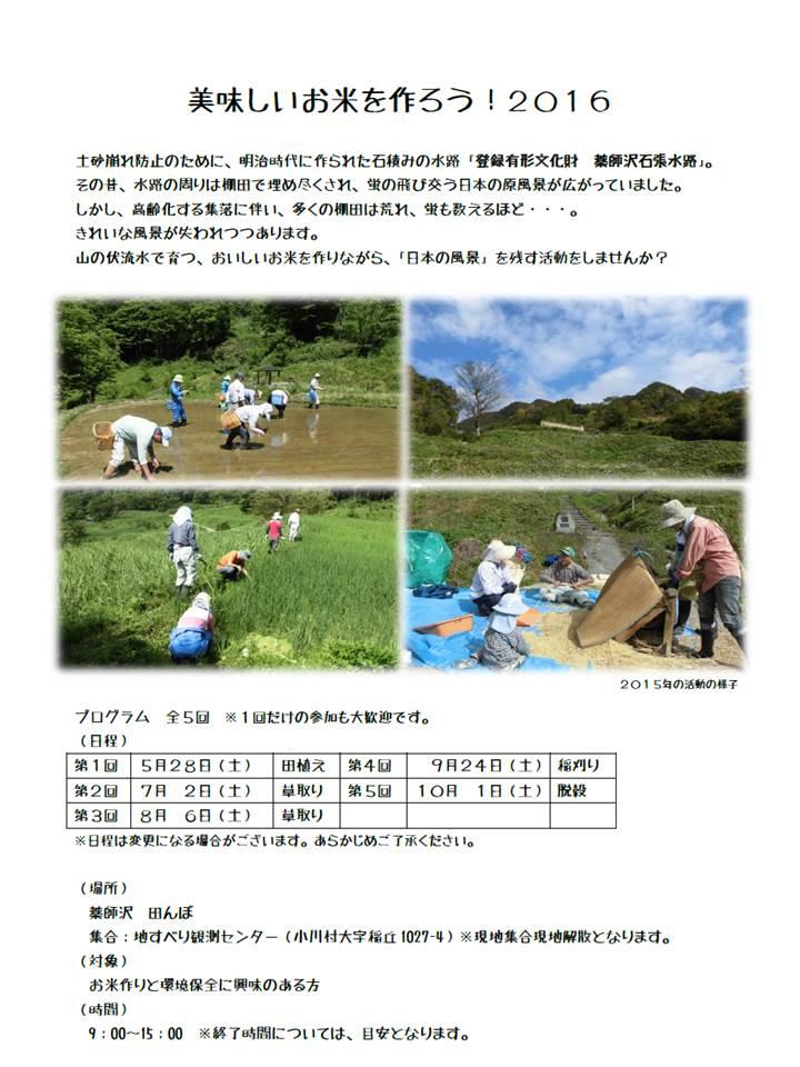 田んぼイベント2016