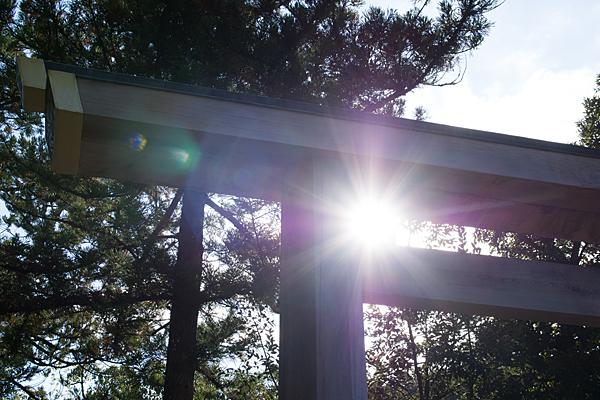 鳥居と太陽