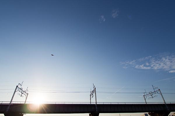 庄内川橋梁と自衛隊機