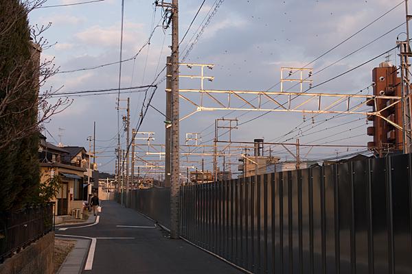 夕焼けの瀬戸電沿い