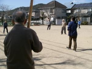 公園で野球2