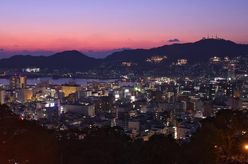 長崎 ヘイフリ坂からの夕景・夜景