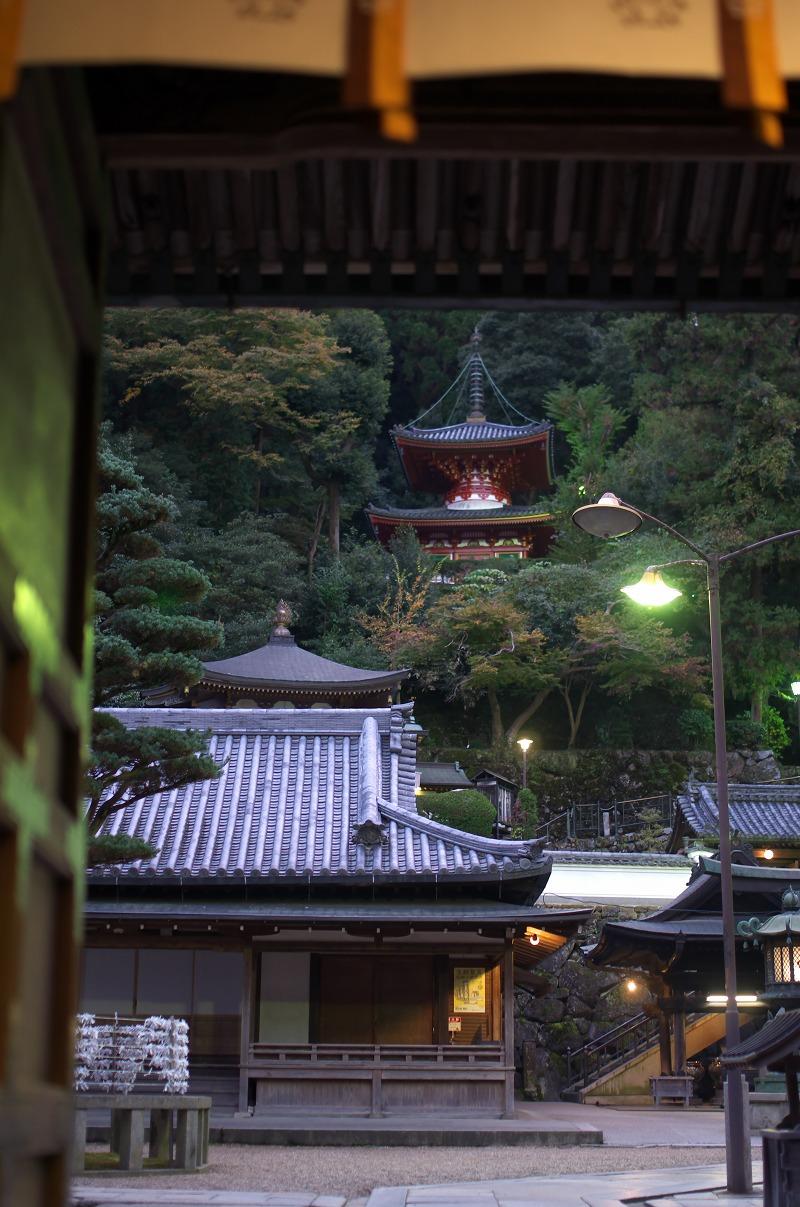 生駒 宝山寺 夜景
