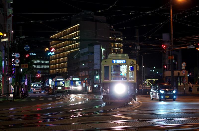 長崎 路面電車 夜景