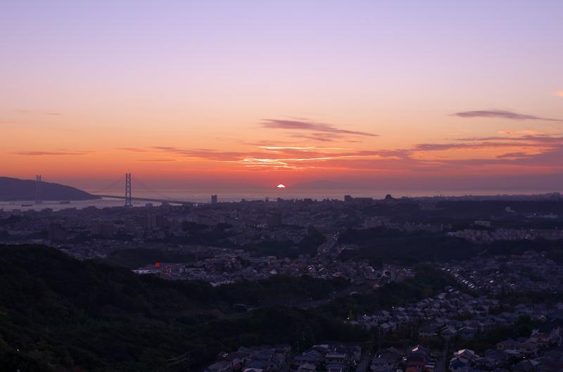 高倉山 明石海峡大橋 夕景・夜景