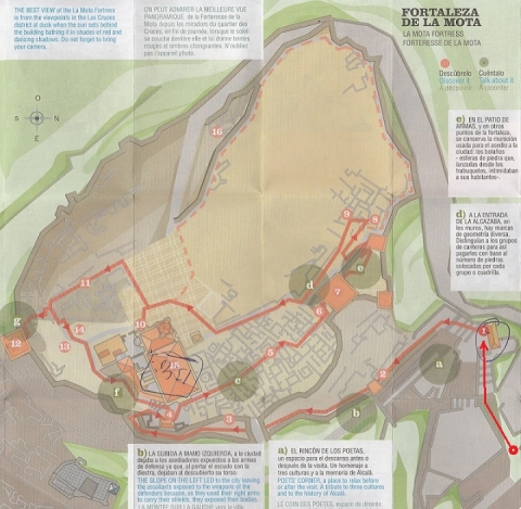 mapa de Fortaleza de la Mota 3