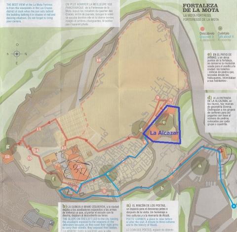 mapa de Fortaleza de la Mota 5