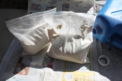 灯油タンク 米粉 2袋