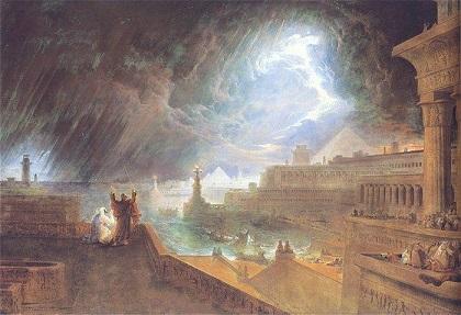 「エジプト第七の災い」 ジョン・マーティン 1824年