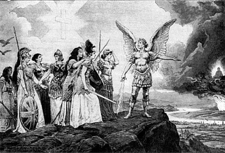「黄禍」を世界に知らしめた寓意画 「ヨーロッパの諸国民よ、諸君らの最も神聖な宝を守れ」