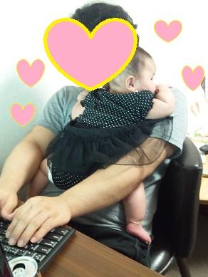 いちごパパ抱っこ2