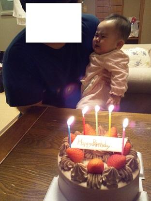 いちご 初ケーキのローソク