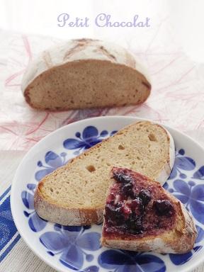 bread and blueberryjam