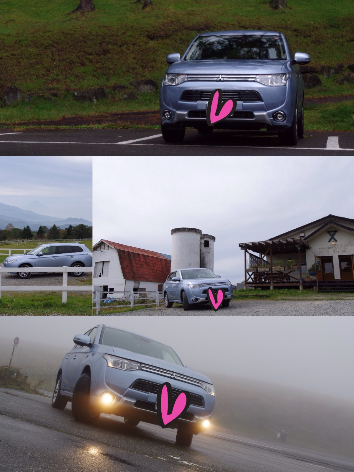 アウトランダーphev 八ヶ岳ドライブ