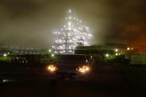 クルマの撮影スポット 川崎工場夜景 アウトランダーphev