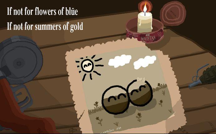 青色の花、金色の夏 (1)