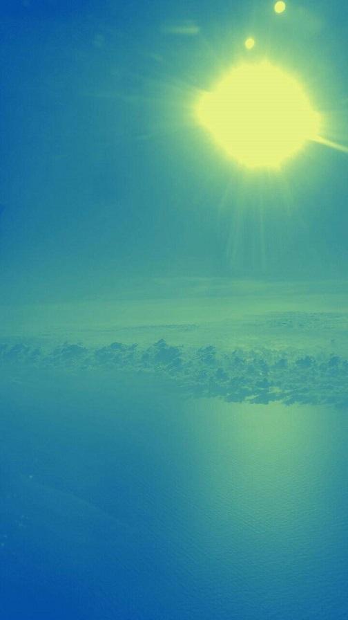 飛行機から見た朝日(ミーママ撮影)1