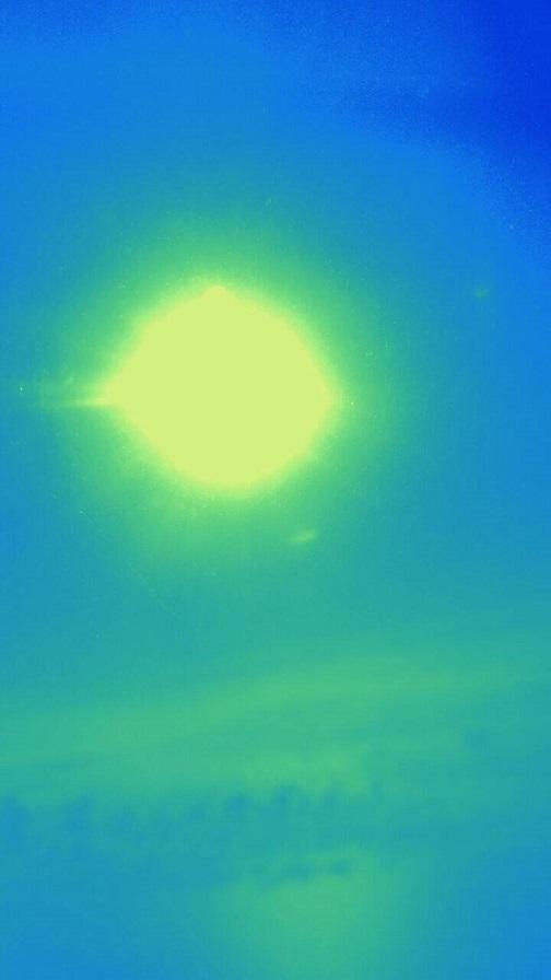 飛行機から見た朝日(ミーママ撮影)2