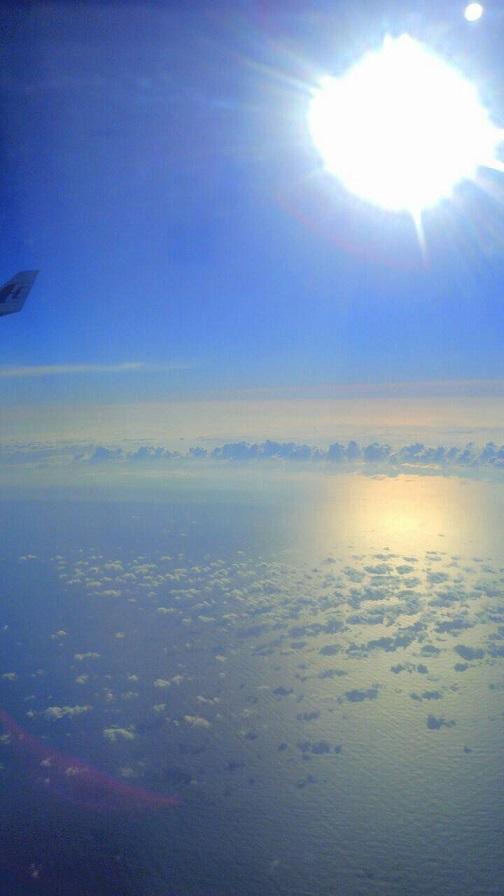 飛行機から見た朝日(ミーママ撮影)5