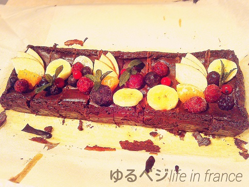 choco cheese cake①