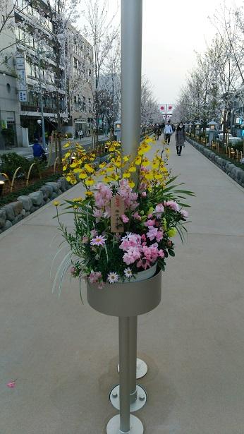 段葛の生け花