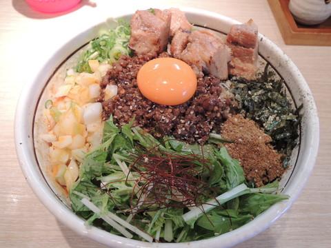 塩担々まぜversion(880円)+大盛(110円)+ど肉(320円)