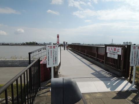筑後川昇開橋(佐賀側の入口)