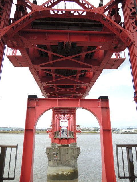 筑後川昇開橋(上昇中の可動橋)
