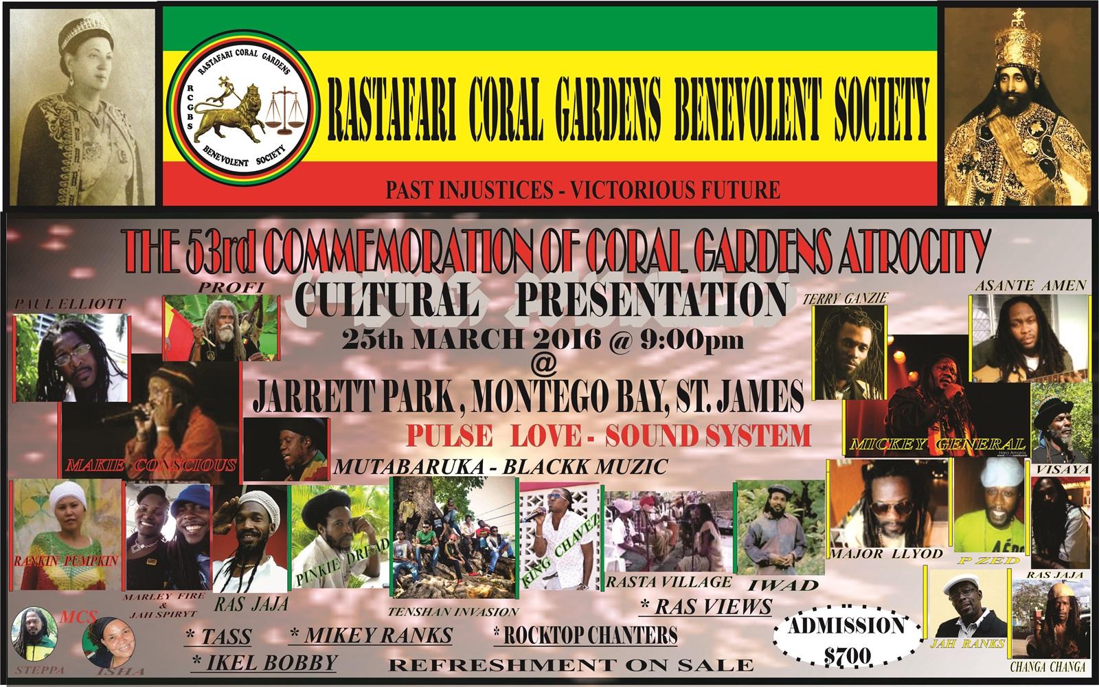 Coral Garden Rastafari Elders momorial