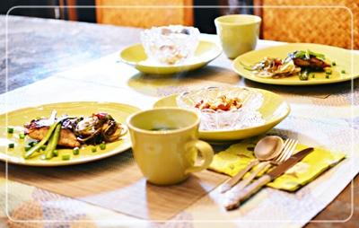 ハマチ醤油麹&キエナサラダ