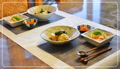 ロールキャベツ&豆腐エビあんかけ