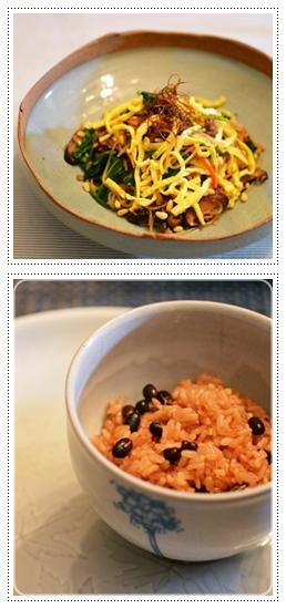 チャプチェ&赤飯