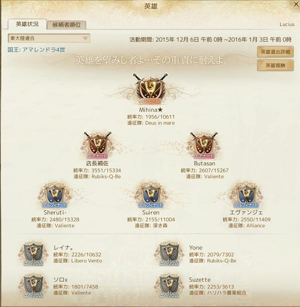 12月6日東勢力新英雄