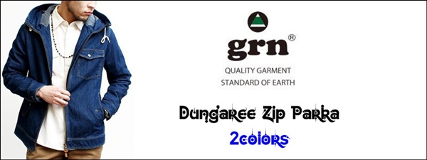 2016-04-06 ダンガリージップパーカー grn ジーアールエヌ 1